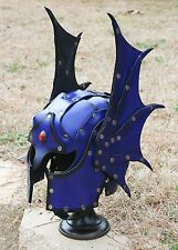 Winged Leather Warduke Helmet Fantasy Armor Helm Dragon Necromancer Sorcerer