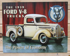 1939 Ford V8 PickUp TIN SIGN classic vtg antique truck metal wall decor ad 707