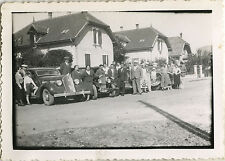 PHOTO ANCIENNE - VINTAGE SNAPSHOT - VOITURE AUTOMOBILE GROUPE SUISSE -CAR 1936 1