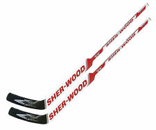 "2 Sherwood T70 composite goal stick left 25"" PP41 red new senior hockey goalie"