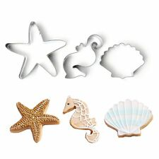 Ocean Seahorse, Starfish, Shell baking biscuit metal stainless cookie cutter set