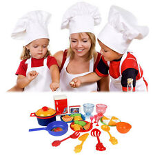 31PCS Child Kitchen Utensils Cooking Pretend Play Set Tableware Food Fruit Toys