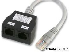 CAT5e RJ45 Network Cable Splitter Economiser Voice / Voice Pack of 10