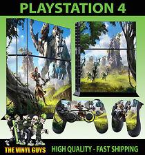 PS4 Playstion Piel horizonte cero amanecer derivada Hunter Pegatina + Almohadilla Calcomanía Vinilo se
