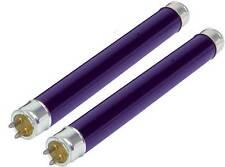 2 x UV ULTRAVIOLET BLACK LIGHT MINI TUBE LAMP BULBS 212 x 16mm F6 T5 BLB 106.041