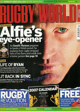 RUGBY WORLD MAGAZINE January 2007, Ireland v Pacific Islands, Georgia, Japan