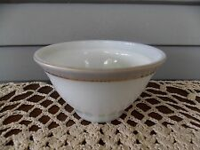 Vintage Pyrex Dinnerware Sugar Bowl (No Lid) with Dove Gray Band & Gold Trim