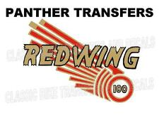 Panther Redwing 100 Tank Transfers Decals Motorcycle