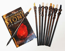 Solid Black Wood Wand Pencil Harry Potter Fantastic Beasts with Magic Crystal