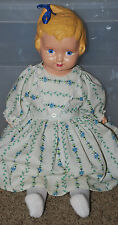 Antique Regal Kiddie Pal Dolly 1920's Composition & Cloth Molded Hair Holds Bow