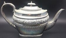 Victorian Silver Plated EPBM Britannia Metal Tea Pot, Profusely Decorated