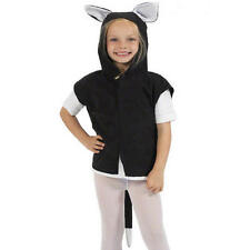 Childrens Black Cat Fancy Dress Costume Halloween Outfit One Size 3-9 Years