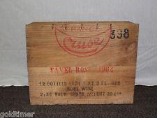 VINTAGE 1964 TAVEL ROSE 12 BOTTLES WINE FRANCE WOOD BOX