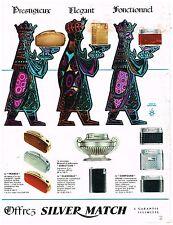 PUBLICITE ADVERSTISING  1963   SILVER MATCH   briquets