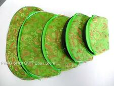 5pc Set Chinese Oriental Make Up Money Coin Jewelry Zipper Travel Cosmetic Bag C