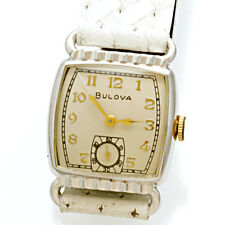 Bulova Watch with Beautiful White Rolled Gold Plate Case CA1953