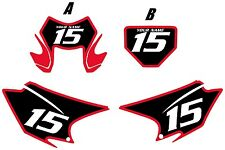 2015-2017 HONDA CRF150F Pre Printed Backgrounds Black with Red Bold Pinstripe