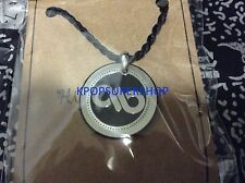 """INFINITE CORDED NECKLACE LOGO NEW 18"""" inch Black and Steel Charm KPOP K-POP"""