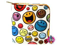 SMILEY WORLD EMOJI MULTI FACE WHITE PURSE WALLET NEW WITH TAGS