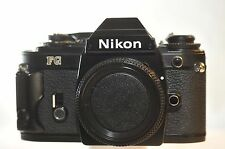 Nikon FG Black FILM SLR camera NICE FULLY WORKING TESTED Serviced NEW SEALS