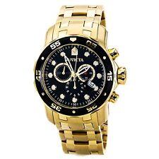 Invicta 0072 Men's Pro Diver Scuba Gold Plated Steel Chrono Watch
