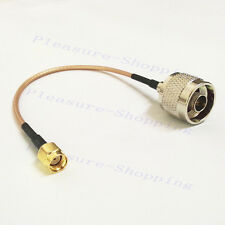 WIFI antenna extension RP SMA male plug to N type male plug cable RG316 15cm NEW