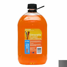 Citronella Torch & Lamp Oil 4 L Bottle for Oil Lamps BBQ Flares