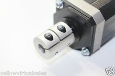 "3/8"" x 1/2"" Rigid Shaft Ballscrew Coupler CNC Mill Router Stepper Servo DC Motor"
