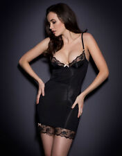 Agent Provocateur JOSELINE SLIP in BLACK STRETCH SATIN - 32C - BNWT