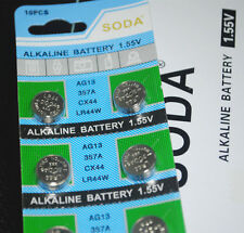 20X Alkaline Battery 1.55V soda AG13 357A CX44 LR44W Free Shipping Uk seller
