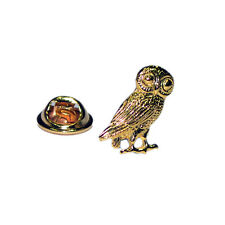Golden Wise Owl of Athena Lapel Pin Badge Gifts For Him