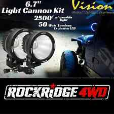 "Vision X 6.7"" LED Light Cannon Kit PAIR 10 Degree 50 w Spot Beam w/ Wire Harness"