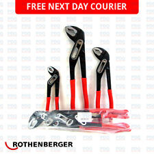 ROTHENBERGER SPK WATER PUMP PLIERS GRIPS 3 PACK 7.0521 7.0522 7.0523 - FREE P&P