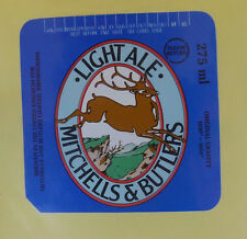 VINTAGE BRITISH BEER LABEL - MITCHELL & BUTLERS BREWERY, LIGHT ALE 275 ML