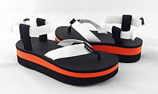 Teva Flatform Universal White / Orange Platform Sandals Women 6 *NEW IN BOX*