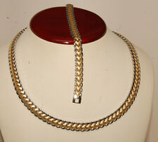 stainless steel  X & O Necklace & Bracelet Set For Ladies XOXO in two tone color