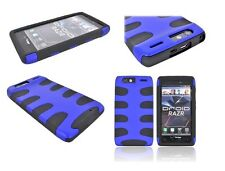 Brand New Fishbone Hybrid casing for Motorola Droid RAZR Blue/Black