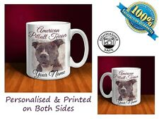 American Pit Bull Terrier Personalised Ceramic Mug: Perfect Gift. (D040)