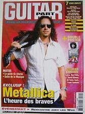 GUITAR PART n°152 # 2006 # METALLICA / THE WHO + PARTITIONS