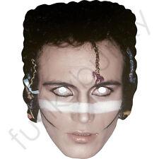 Adam ANT 1980's Celebrity CANTANTE MASCHERA di cartone-tutte le maschere sono pre-tagliati!