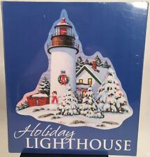 "New Current Christmas Holiday Lighthouse Jigsaw Puzzle 1,000 Pcs 30 x 30"" Sealed"