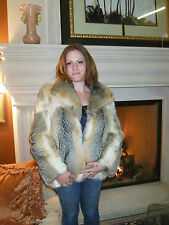 Vintage Genuine Medium Fox Fur Coat, Satin Lining Eagle Valley Fur from Vail, CO