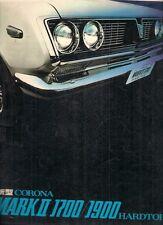 Toyota Corona Mark II Hardtop 1970 Japanese Market JDM Sales Brochure 1700 1900