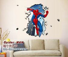 AMAZING SPIDERMAN Wall Stickers Boys Kids Bedroom Mural Art Wallpaper Decal w100