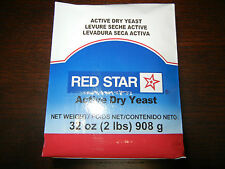 2 LBS RED STAR ACTIVE DRY YEAST VACUUM PACKED BREAD MACHINE BAKERS 32 oz