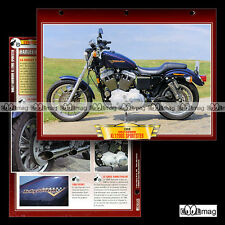 #401.32 Fiche Moto HARLEY-DAVIDSON XL 1200 S SPORTSTER 90's Motorcycle Card