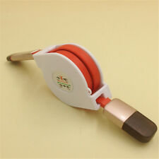 2 in 1 Retractable Micro USB+Lightning Data Sync Charger Cable iPhone Android