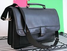 Hartmann Belting Leather Briefcase Shoulder Bag Travel Case Laptop Messenger