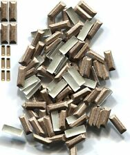 BAR Rectangle Rhinestuds Pearl Color BROWN Hot Fix 1 gross