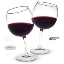 12oz. UNIQUE TIPSY CROOKED CURVED WINE GLASSES